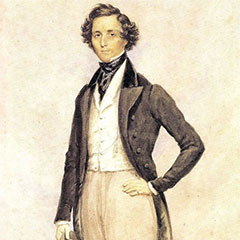 Portrait de Felix Mendelssohn, par James Warren Childe en 1830.