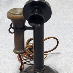 Telehone of the Northern Electric Company Limited made of metal, circa 1930.