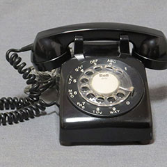 Northern Telecom telephone made of plastic and metal, circa 1970.
