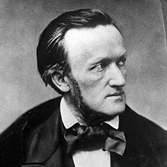 Black and white photograph of Richard Wagner.