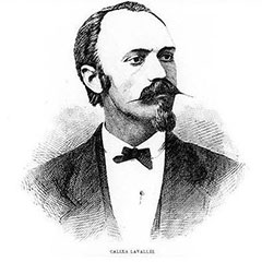 Sketch of Calixa Lavallée.