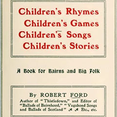 Book of nursery rhymes and children's songs. Book cover and title page.