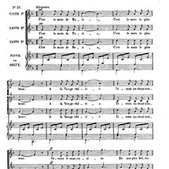 "Printed score of the song ""C'est le mois de Marie"" (It's the month of Mary)."